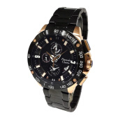 ALEXANDRE CHRISTIE Men Sport Chronograph Black Dial Stainless Steel [AC-6463-MCBBRBA]