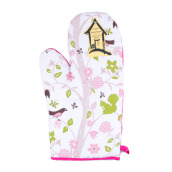 ARNOLD CARDEN Oven Mitts Bird Tree Right Side - Pink 19x32cm