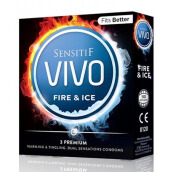 SENSITIF VIVO Kondom Fire N Ice 3pcs