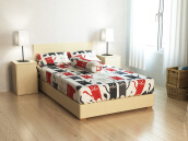 PILLOW PEOPLE Sprei Set - Cat - 160x200 cm