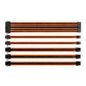 THERMALTAKE TT Mod Sleeved Cable Black& Orange 300Mm Combo Pack