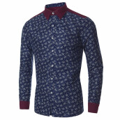 PODOM Men's Casual Floral Shirt