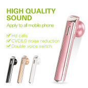 Bluetooth earphones CVC6.0 smart noise reduction Double voice switch Wireless Bluetooth Headset Apply to all mobile phone-pink