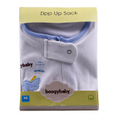 BOOGY Baby Zipp Up Sack Boy White