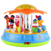 Baby Musical Rotation Clown Amusement Park Projector Intelligence Toy(Blue)