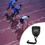 Digital Chronograph Sports Stopwatch Counter with Strap