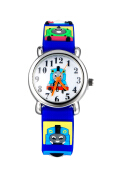 Keymao Tomas Waterproof 3D Cute Cartoon Silicone Wristwatches Gift for Little Girls Boy Kids Children