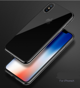 Reys R-11 Silicone anti-fall Transparent IPHONE X case cover-Grey