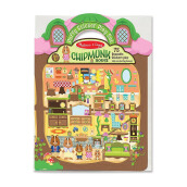 MELISSA & DOUG Puffy Sticker Play Set - Chipmunk House MD-9101