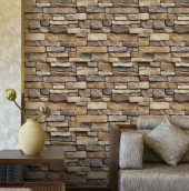 Modern Faux Brick Textured Adhesive Wallpaper 45 x 1000cm
