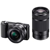 SONY ILCE-A5000Y 16-50mm f3.5-5.6 OSS + 55-210mm f/4.5-6.3 OSS - Black