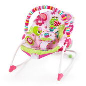 BRIGHT STARTS Infant To Toddler Rocker - Raspberry Garden 10125-3-ES-YW2