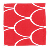 GLERRY HOME DÉCOR Red Passion Glass Coaster