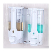 STARHOME Dispenser Sabun Cair 2 in 1 with Key Lock - Tempat Sabun Cair 2 in 1 - Putih DPSE-2-W