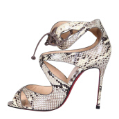 CHRISTIAN LOUBOUTIN Python Heels with Ankle Closure [CLO01938S] 35