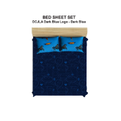PILLOW PEOPLE Bed Sheet Set DC Justice Leagueof America - Dark Blue Logo & Dark Blue / 120x200cm