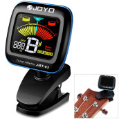 JOYO JMT - 03 Clip-on 360 Degrees Rotation Color LCD Guitar Tuner Metronome for Bass Violin Ukulele