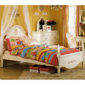 THE OLIVE HOUSE - Tempat Tidur Queen Anne SS Bed Ivory (FREE ONGKIR JAWA & BALI)