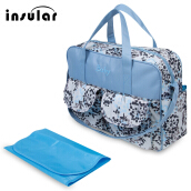 Multifunctional Zipper Clossure Handbag Mummy Diaper Bag(Dandelion Pattern 39*12.5*33)