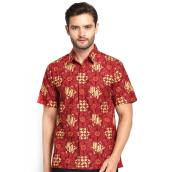 FBW Clinton Short Sleeves Batik Shirt - Red