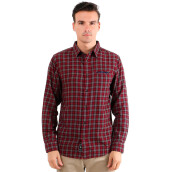 FAMO Classic Fit Long Shirt - Red