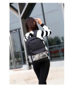 Casual Girls Geometric Pattern School Backpack Rucksack Travel Bag