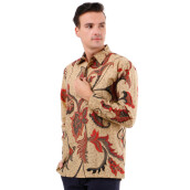 DANAR HADI Mens Long Sleeve Batik LKRB3 - Cream