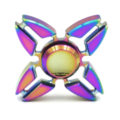 Colorful Quadri-Spinner Reducing Stress Anxiety Enhancing Finger Flexibility