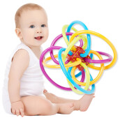 BESSKY Replica Infant Baby Rattle and Teether Activity baby Teething Toy- Multicolor
