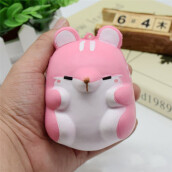 BESSKY Fun Hamster Squishy Decor Slow Rising Kid Toy Squeeze Relieve Anxiet Gift