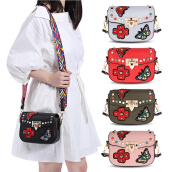 Guapabien Embroidery Shoulder Crossbody Bag for Women