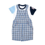 TORIO Tiny Blue Boxes Overall Set