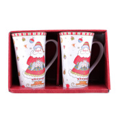 222 FIFTH Tall Mug - Set of 2 - Christmas Play Santa
