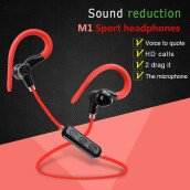 Bluetooth Version 4.1 Wireless Smart sports Earphones Waterproof CVC6.0 Noise Reduction design With microphone-black