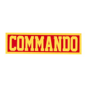Tactical Series Velcro Patch 2.5 x 9 cm - COMMANDO -Red Yellow