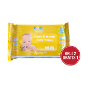 PURE BABY Hand & Mouth Baby Wipes Orange & Chamomile Oil Combo (2+1) 10's