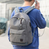 BESSKY Student Boy Laptop Backpack School Bag School Backpack Men Woman Travel Bag_