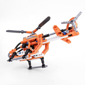 BIOZEA 168pcs Helicopter Toy Technic Blocks Orange