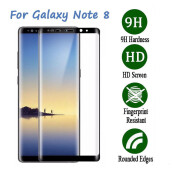 BESSKY  For Samsung Galaxy Note 8 Screen Protector 9H Curved Full Temper Glass Film_ Black