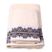 TERRY PALMER Premium Towel Bath & Travel 500g Set of 2 - Ivory/SET2LP9706MO-50NN-NYO