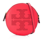 TORY BURCH Perforated Logo Crossbody - Red Ginger  [35929607]