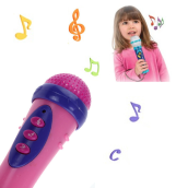 BESSKY Cute Girls Boys Microphone Mic Karaoke Singing Funny Gift Music Toy- Pink