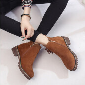 BESSKY Womens boots female Short Booties Ankle Boots Winter Martin Boots Shoes _