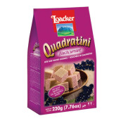 LOACKER Quadratini Blackcurrant 220gr