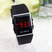 Unisex Sport Digital LED Wrist Watch Day Date Silicone Belt Boys Girls Kid