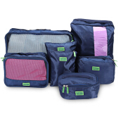 Waterproof Travel Storage 7 Piece Luggage Organizer Bags