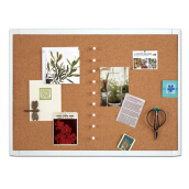 QUARTET White Frame Cork Board ( 23 x 17 inch)