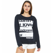 DAMN! I LOVE INDONESIA Sweater Female Master Pieces - Navy