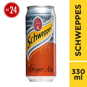 SCHWEPPES Ginger Ale Can Carton 330ml x 24pcs