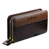Long Business Man wallet double zippers leather clutch bag